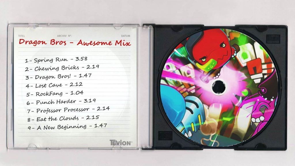 Cd dragon bros fake CD for soundtrack